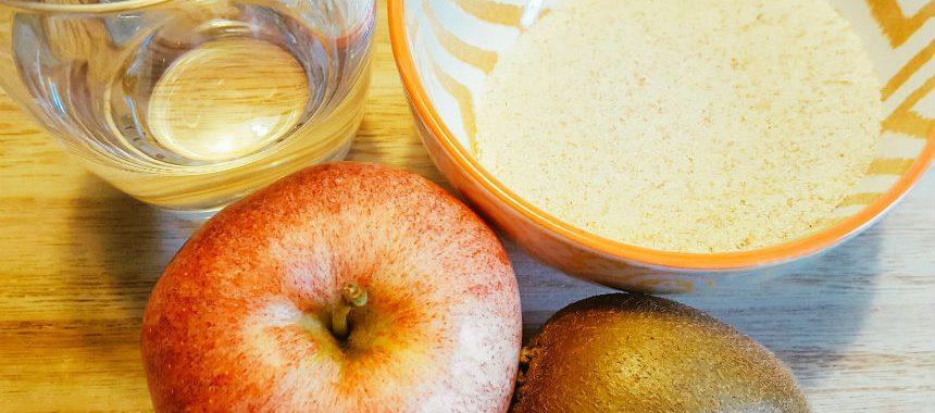 Apfel-Kiwi-Grieß-Brei