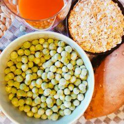 Erbsen-Süßkartoffel-Haferflocken-Brei Zutaten