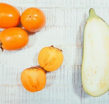 Kaki-Aubergine-Brei Zutaten