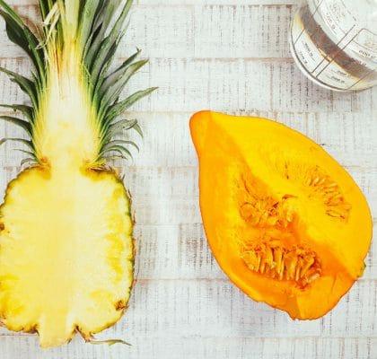 Kürbis-Ananas-Brei Zutaten