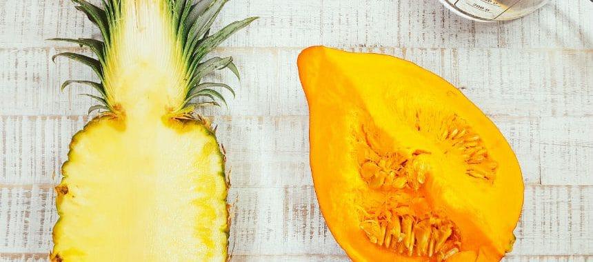 Kürbis-Ananas-Brei