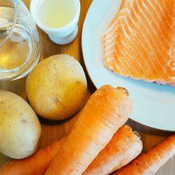 Möhren-Kartoffel-Lachs-Brei Zutaten