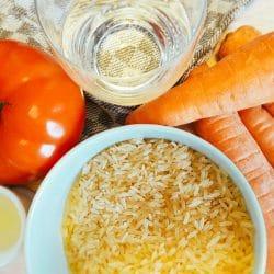 Reis-Möhren-Tomaten-Brei Zutaten