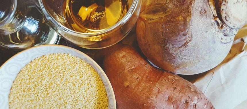 Steckrübe-Süßkartoffel-Couscous-Brei