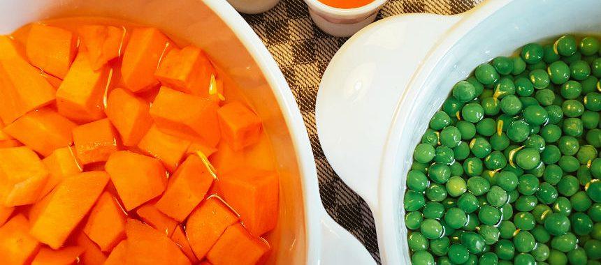 Erbsen-Süßkartoffel-Haferflocken-Brei