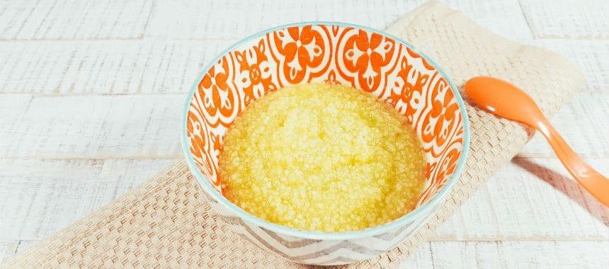 Gurke-Birne-Brei mit Couscous
