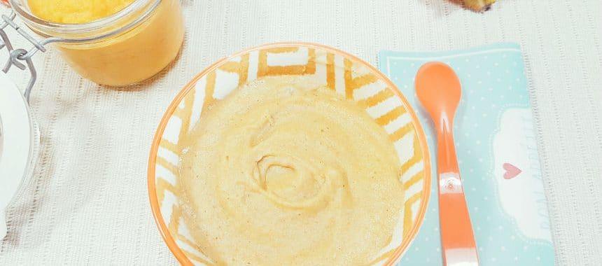 Apfel-Kaki-Brei mit Schmelzflocken