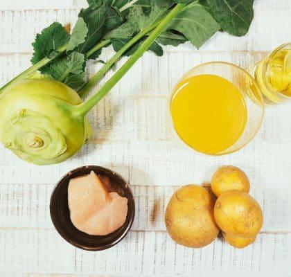 Kohlrabi-Kartoffel-Hähnchen-Brei Zutaten