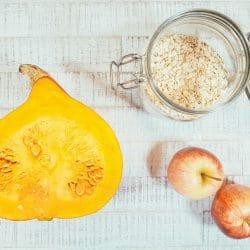 Kürbis-Haferflocken-Brei mit Apfel Zutaten