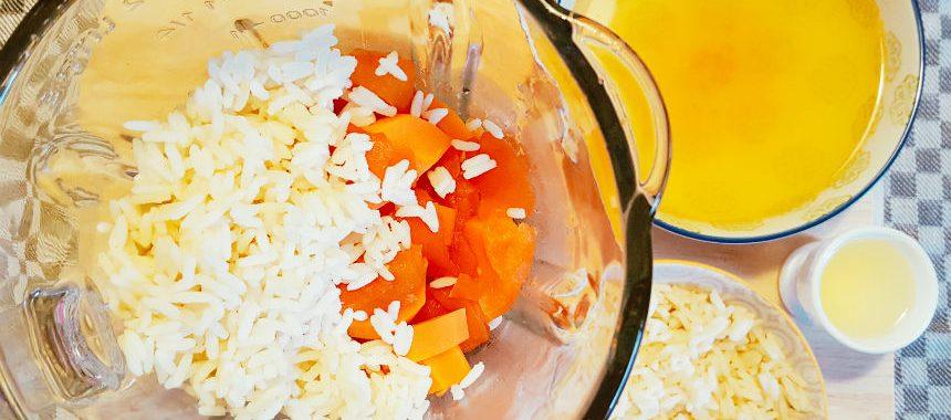 Reis-Möhren-Tomaten-Brei