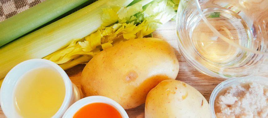 Sellerie-Kartoffel-Brei mit Geflügelhackfleisch