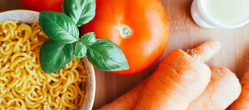 Spaghetti-Möhren-Tomaten-Brei