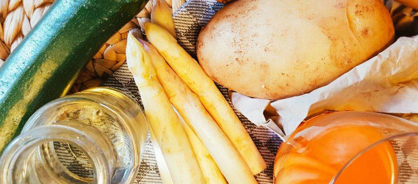 Spargel-Zucchini-Kartoffel-Brei