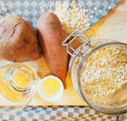 Süßkartoffel-Haferflocken-Brei Zutaten